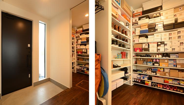 玄関、収納スペース